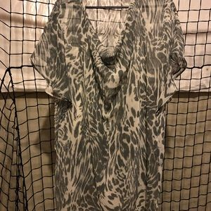 New York & company leopard print blouse